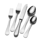 Hammered Flatware, Knife, Fork, Spoon