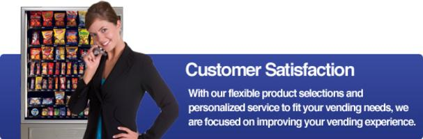 Customer satisfaction, vending needs, personalized service, product selections
