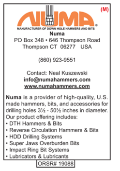 Numa Hammers, Rock Drilling Tools