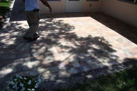 Application of Paver Sealer