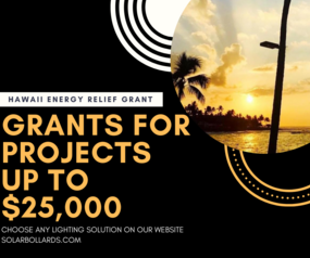 SolarBollards Hawaii Energy Relief Grant