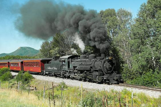 A train on the Cumbres and Toltec Scenic Railroad.