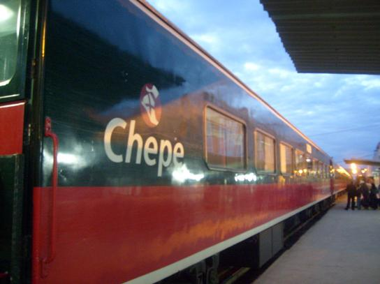 El Chepe at terminal station, 8 February 2009.