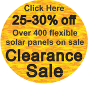 Over 400 flexible solar panels on sale