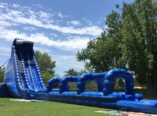 Inflatable Water Slide - water slide with pool - Crazy Cash Backyard