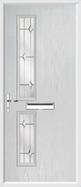 2 Square Composite Door regal opal glass
