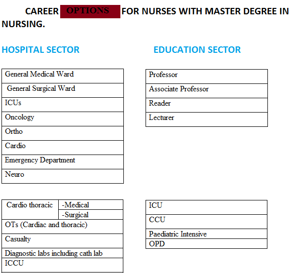 career option after msc nursing for nurses