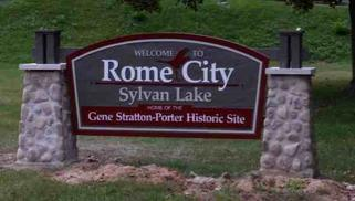 Town Signage of Rome City, Indiana