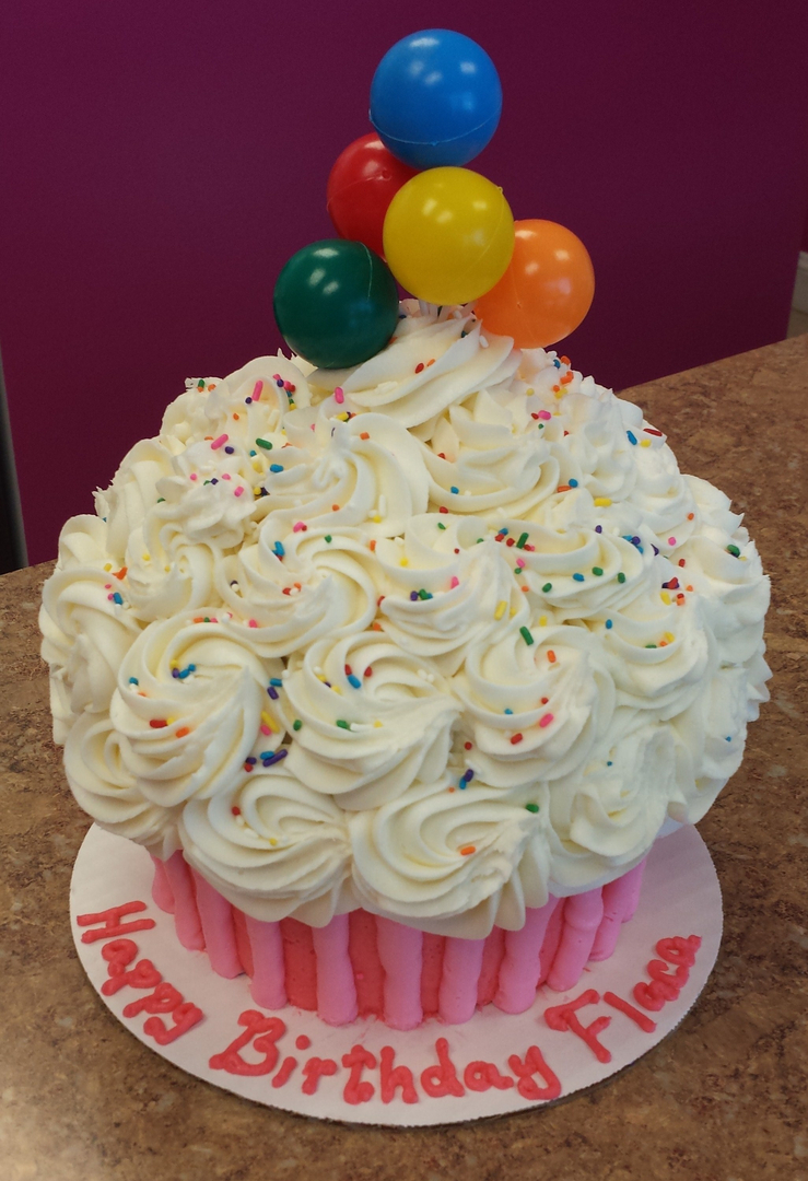 Our Giant Cupcake Cake