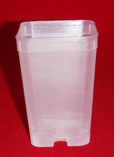 clear plastic orchid pot 2.25 inch square holes small