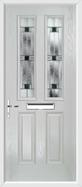 2 Panel 2 Square Composite Door aspen glass