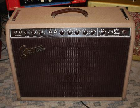 A brown Fender Super