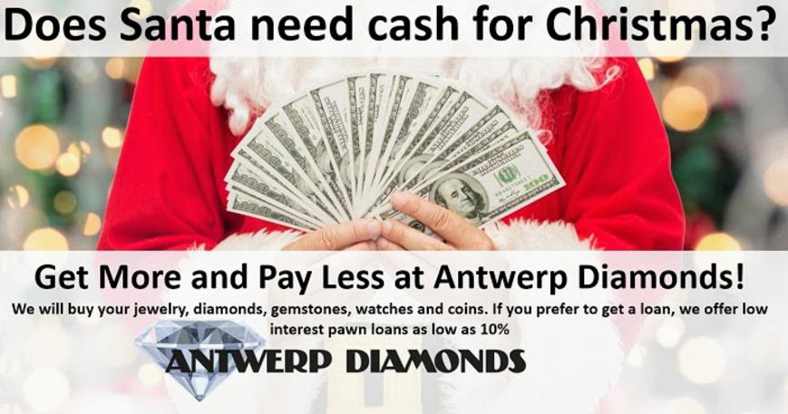 Cash loans for gold, diamonds and Rolex watches - Antwerp Diamonds and Jewelry of Roswell Georgia