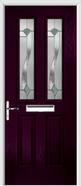 2 Panel 2 Square Composite Door monza glass