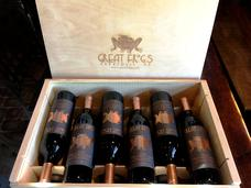 Engraved wood wine boxes