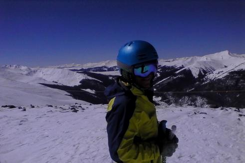 Client using ski rental near Breckenridge, CO