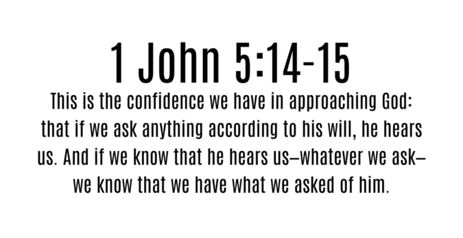 Verse of the Day - 1 John 5:14-15