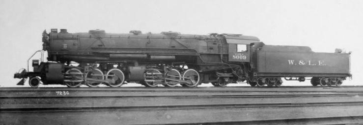 Wheeling and Lake Erie 2-8-8-2 No. 8009.