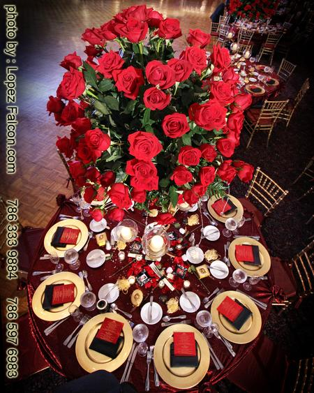 Quinceanera Party Miami Centerpieces Table center decoration Phantom of the Opera