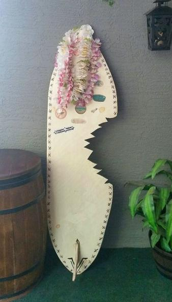 Surfboard Cutout with Shark Bite