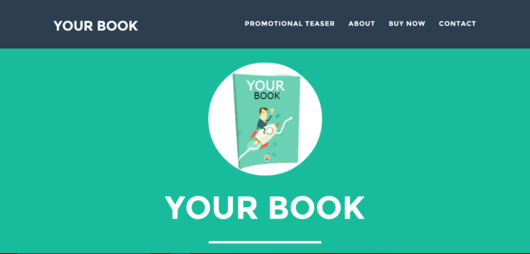 Sample - Website designing for authors and books
