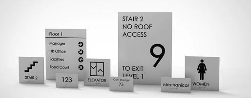 Elevator and Office Signage