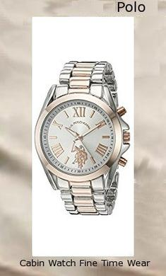 Product specifications Watch Information Brand, Seller, or Collection Name U.S. Polo Assn. Model number USC40118 Part Number USC40118 Item Shape Round Dial window material type Glass Display Type Analog Clasp Fold-over-clasp Case material Metal Case diameter 41 millimeters Case Thickness 13 millimeters Band Material alloy Band length Women's Standard Band width 21 millimeters Band Color Two Tone Dial color Silver Bezel material Metal Bezel function 24 hour time display Item weight 4 Ounces Movement Analog quartz