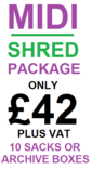 Midi Shred Pricing for Small Office Commercial Shredding