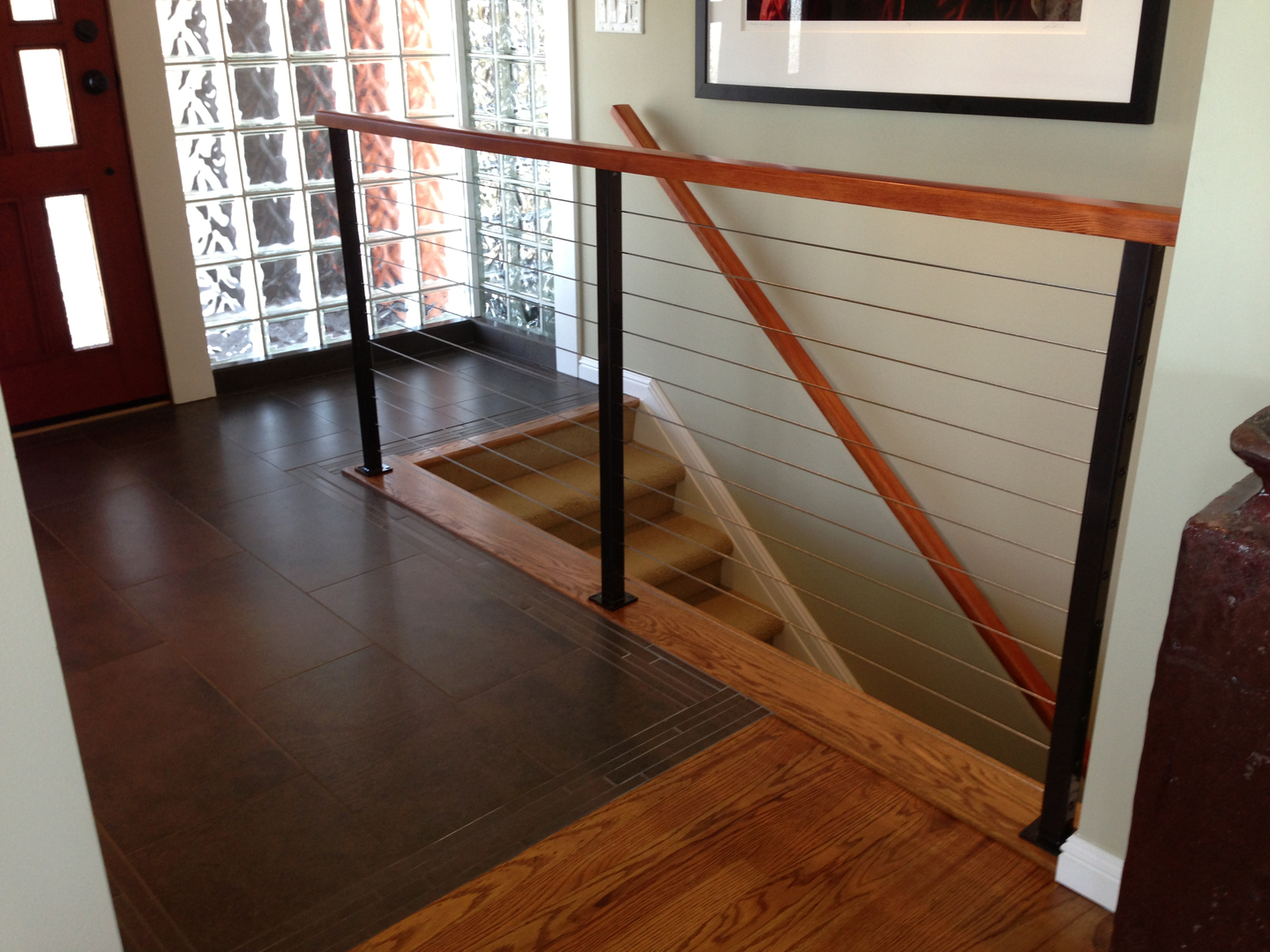 iron railings works interior ace banister rib