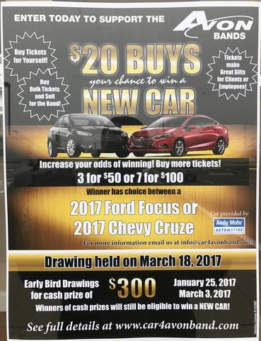 Indy Ink and Toner Avon Band Free Car Raffle