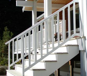 powder coated custom aluminum railing systems