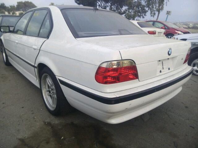2001 BMW 740I AUTOM WHITE