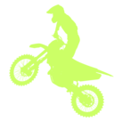 Mines and Meadows Dirt Bike Icon
