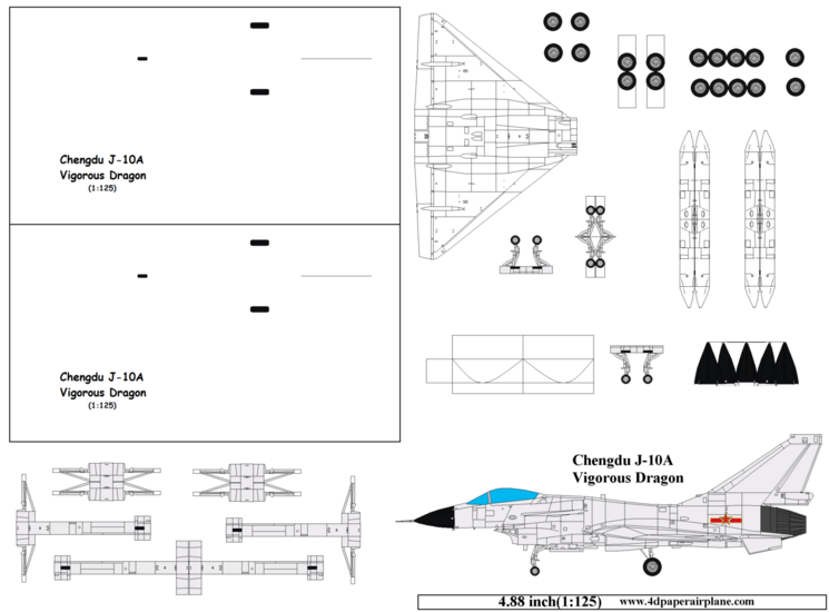paper model airplanes free download