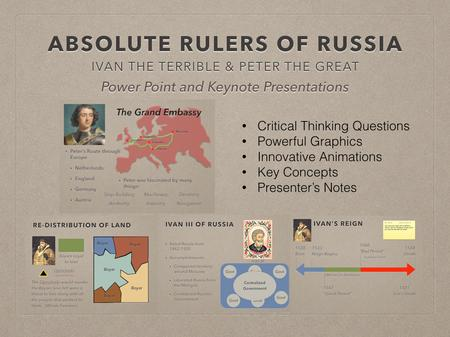 Absolute Rulers of Russia Powerpoint