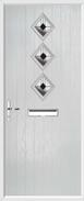 3 Diamond Composite Door art deco glass