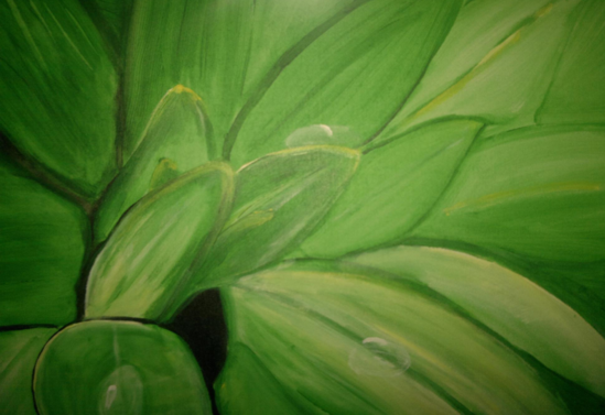 Greenery painted with acrylic by cindy kennedy