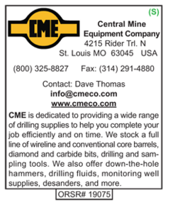 Drilling Supplies, CME, Central Mine Equipment