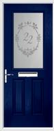 2 Panel 1 Square Composite Door sandblast glass