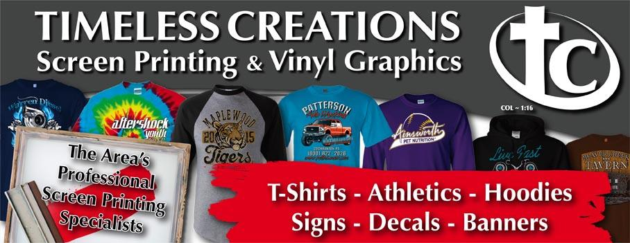 Timeless Creations Screen Printing & Vinyl Graphics in