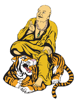 Buddha on tiger sketch