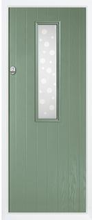 1 Square composite door in chartwell green