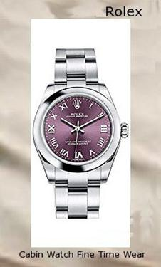 Rolex OYSTER PERPETUAL 31 Red Grape Roman Dial Steel Ladies Watch 177200,rolex yacht master