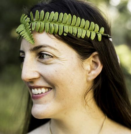 sword fern crown, sword fern, woodland, faerie, wildish crown