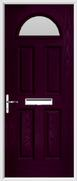 4 Panel 1 Arch Composite Door obscure glass