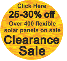 Massive clearance sale on flexible solar panels