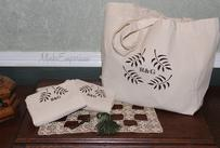 Reusable Canvas and Burlap Shopping Bags