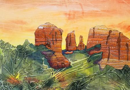 The Natural Accents Gallery of Taos, Exhibits the works of Mixed Media Artist Sandy Applegate