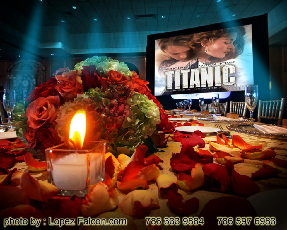 Titanic Quinceanera decoration Satage Miami Titanic Quince Sweet 15 16 Parties theme themed Miami Photography video