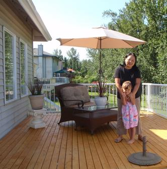 Select Knotty Alaskan Yellow Cedar Decking